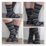 FO: grey jacquard socks