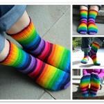 FO: 15 Colour Rainbow Socks