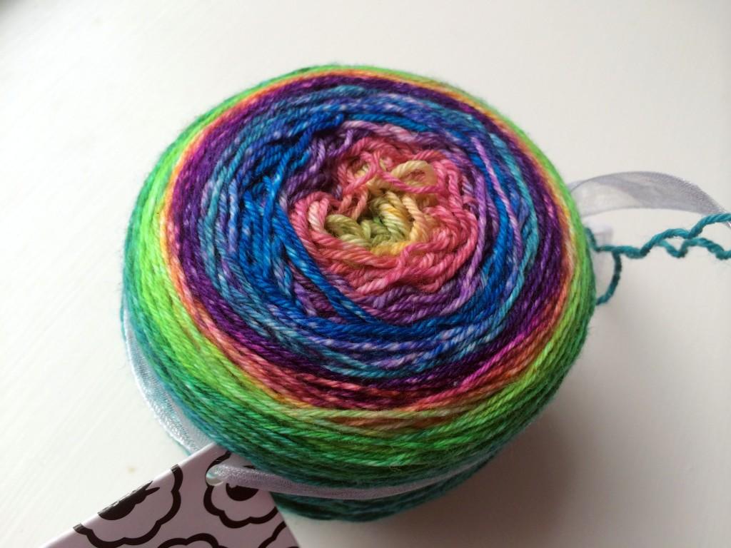 stripey sock tie dye