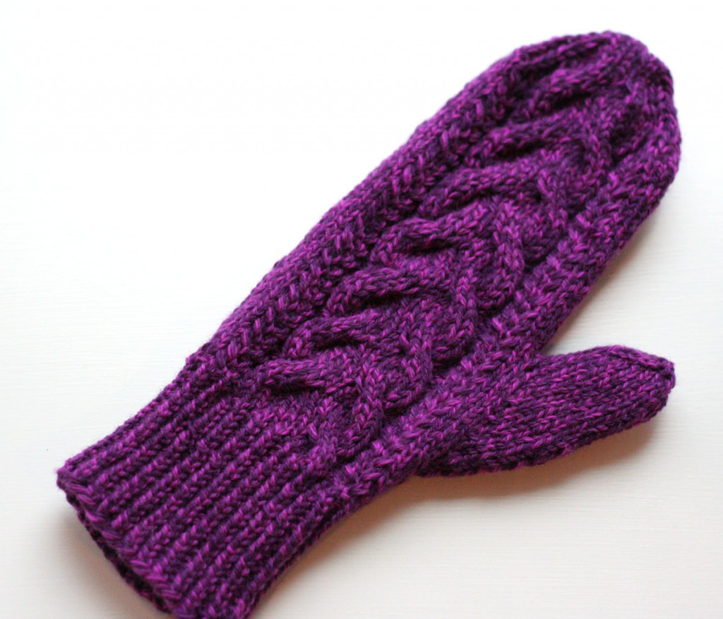wood hollow mittens - one done