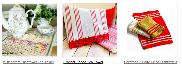 crochet towels